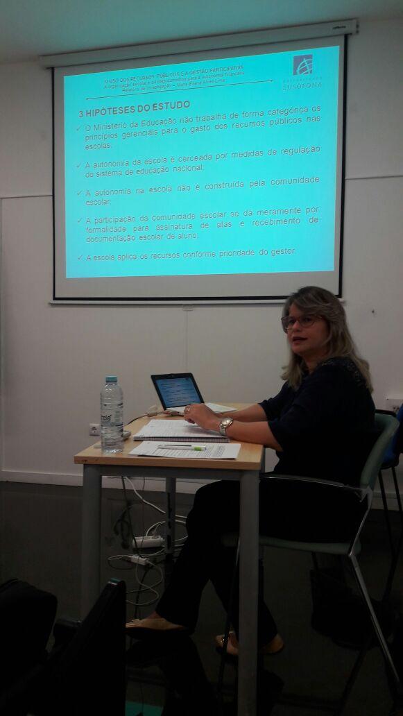 Maria Eliana Lima defendeu o Relatório de Investigação de Doutoramento em Educação