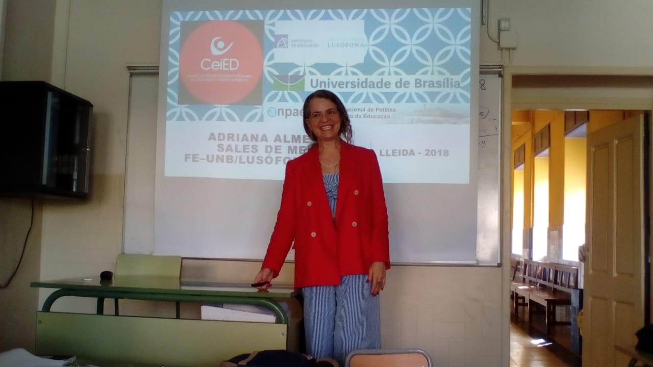 Participação da Pós-doutoranda do CeiED Adriana Almeida Sales de Melo.