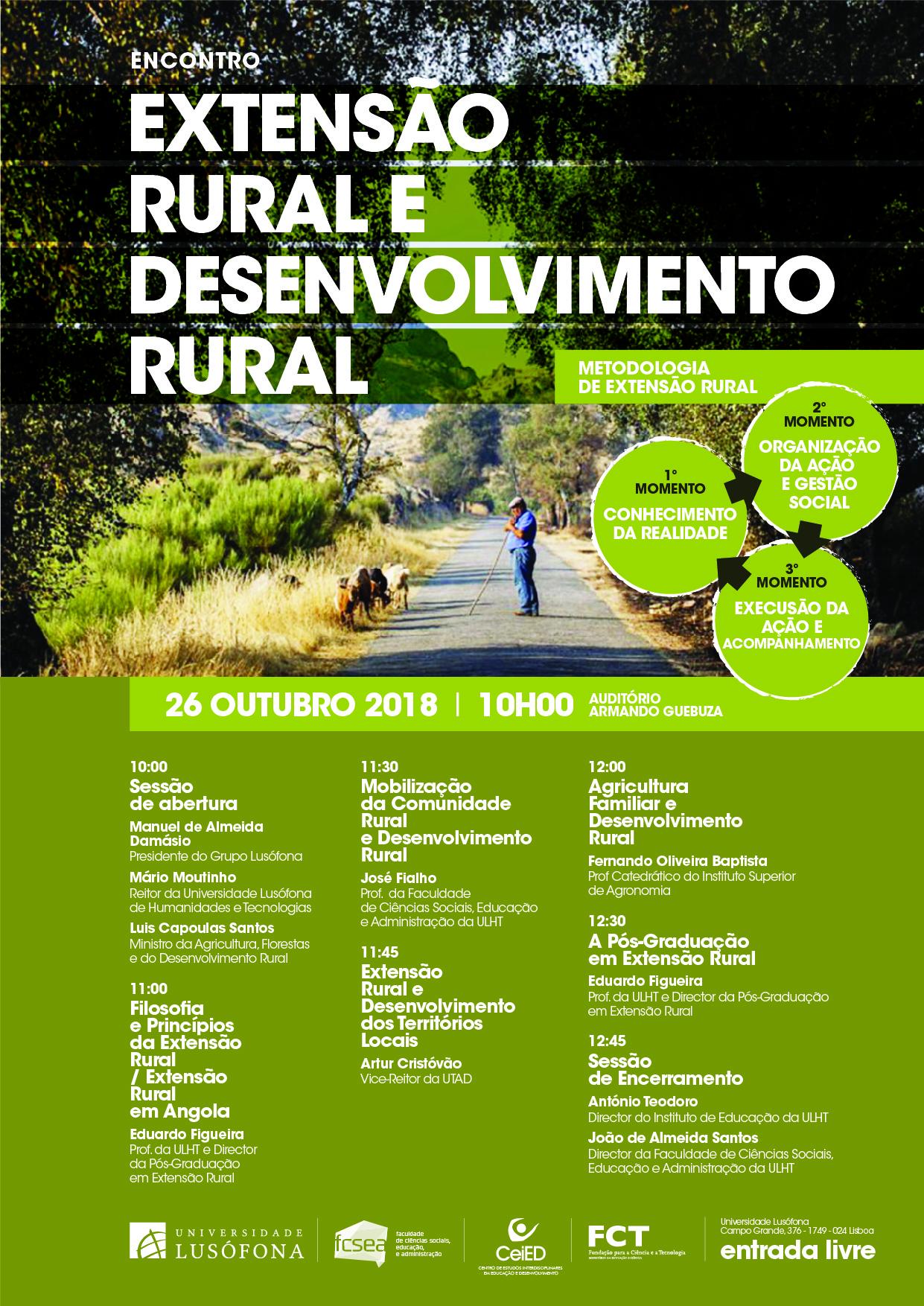 Encontro EXTENSÃO RURAL E DESENVOLVIMENTO RURAL FCSEA