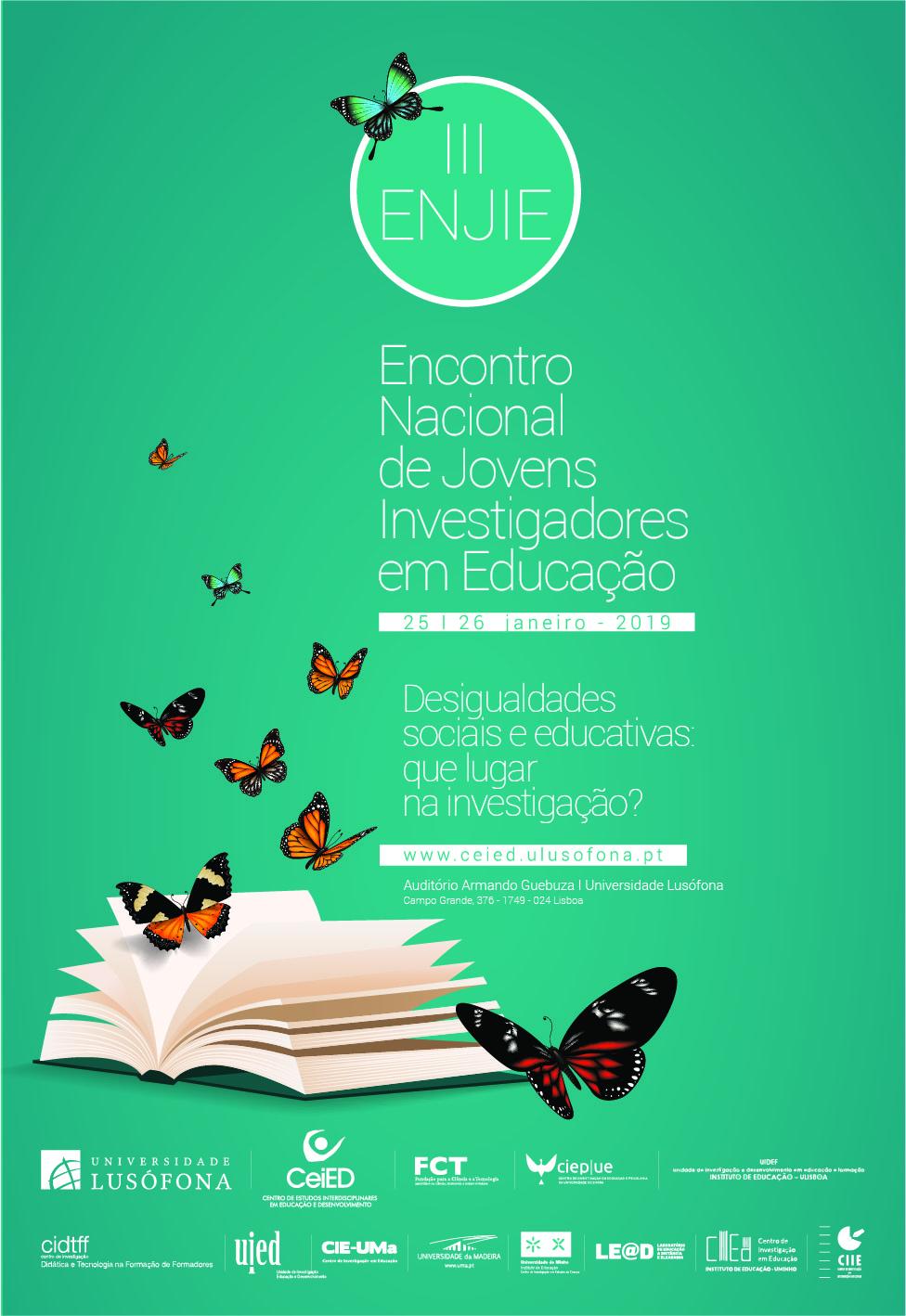III Encontro Nacional de Jovens Investigadores em Educação (III ENJIE)