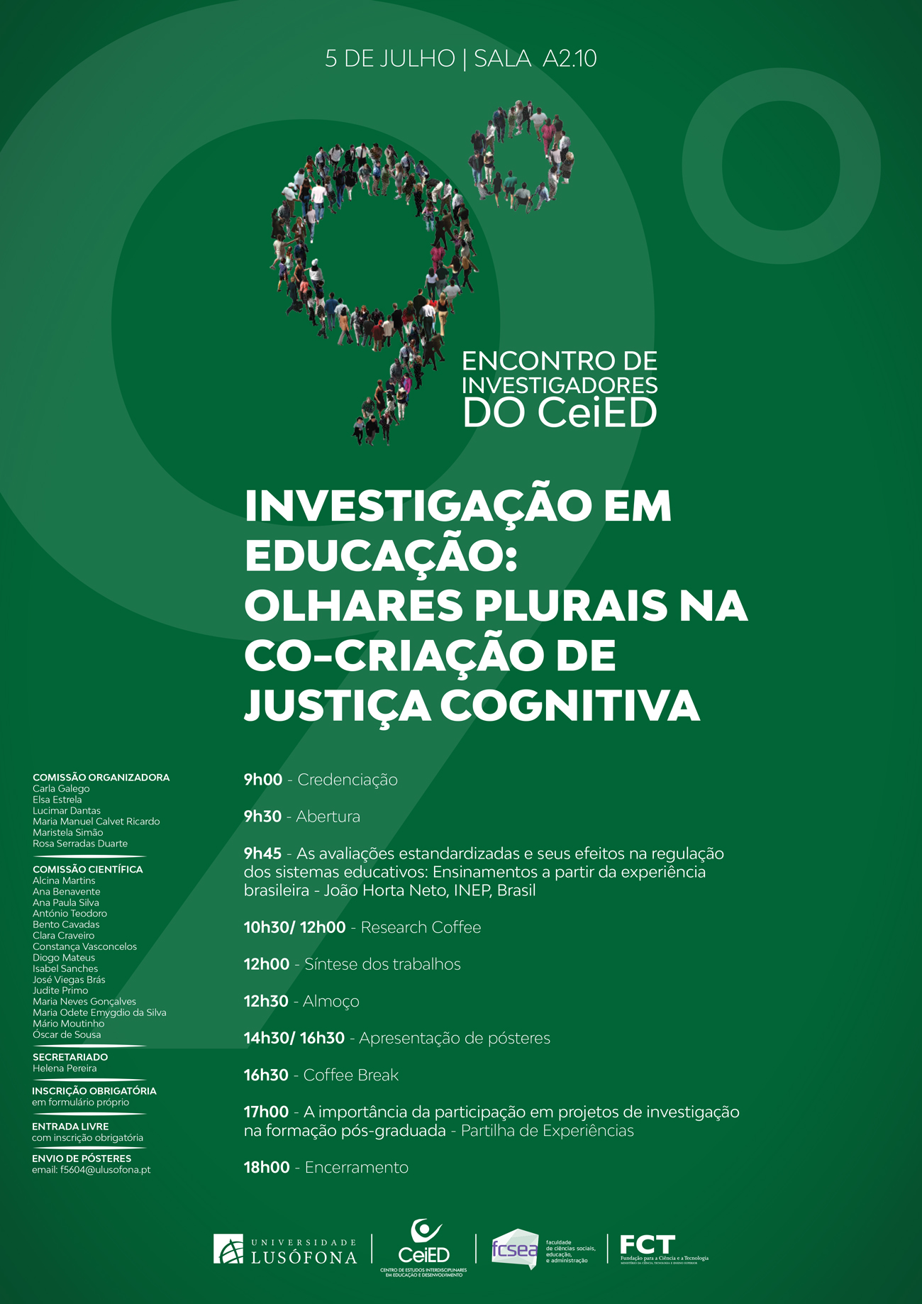 CARTAZ - 9º Encontro de Investigadores do CeiED