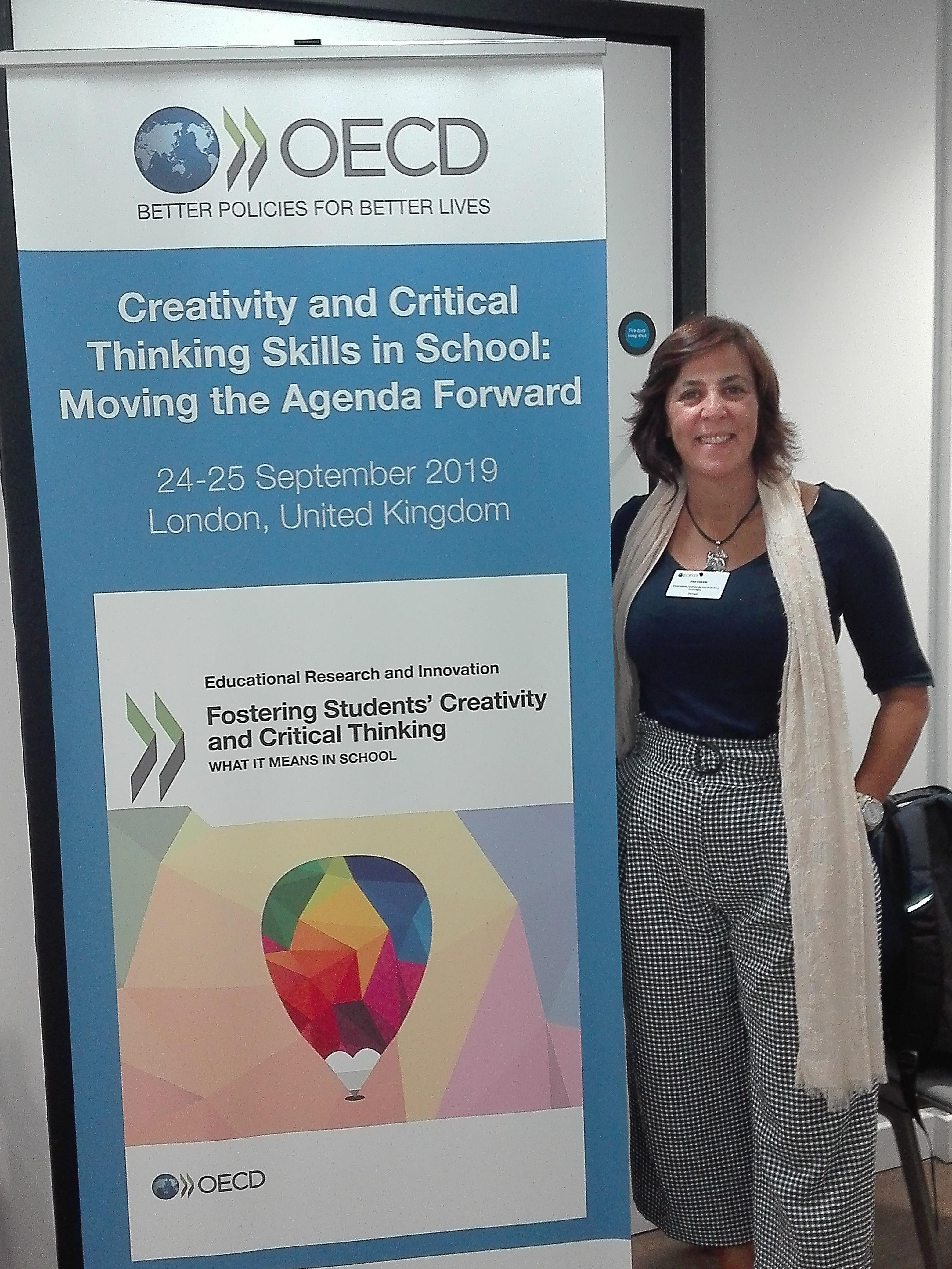 """Participação de Investigadora Integrada do CeiED, Elsa Estrela – Conferência """"Creativity and Critical Thinking Skills in School: Moving the Agenda Forward"""""""