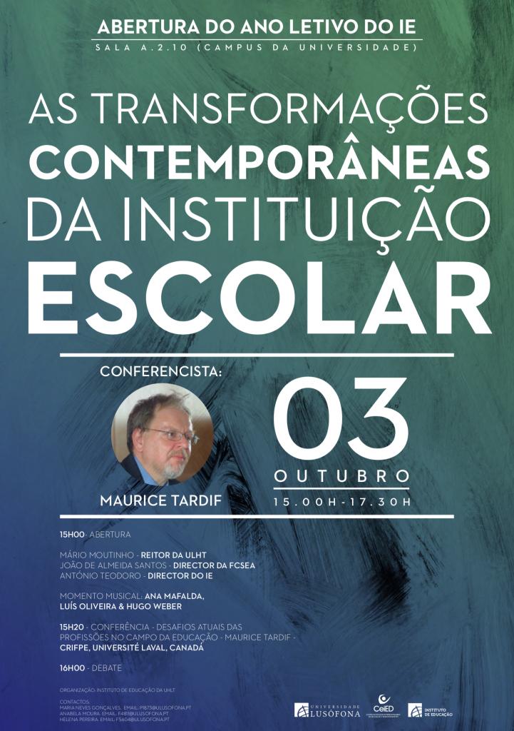 Abertura do ano letivo 2019/2020 – Instituto de Educação